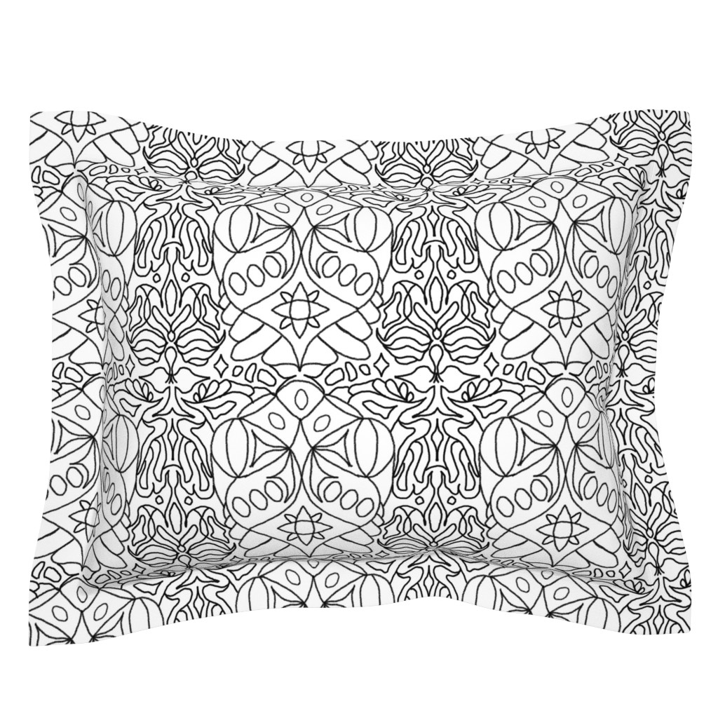 Sebright Pillow Sham featuring McDoodle 17 by hypersphere