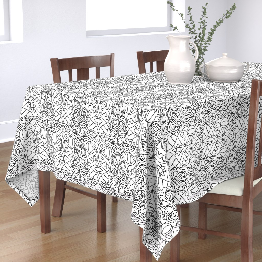 Bantam Rectangular Tablecloth featuring McDoodle 17 by hypersphere