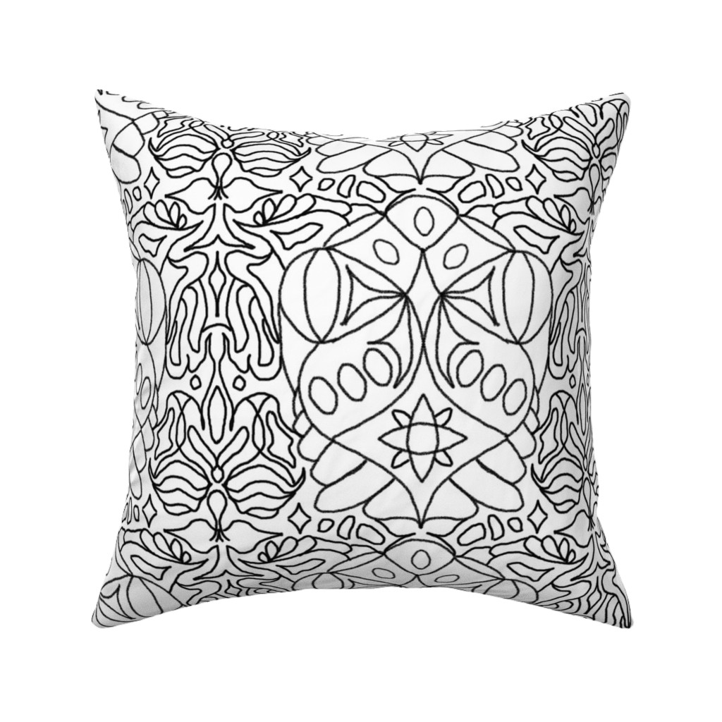 Catalan Throw Pillow featuring McDoodle 17 by hypersphere