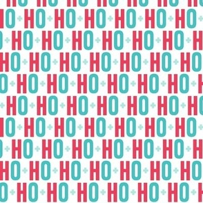 ho ho ho red + teal UPPERcase