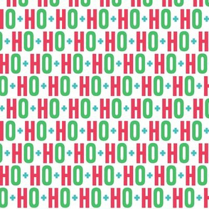 ho ho ho green + red + teal UPPERcase