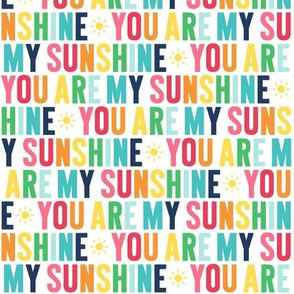 you are my sunshine rainbow with navy UPPERcase