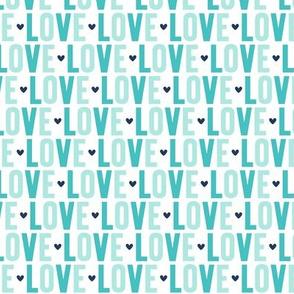 love navy + teal UPPERcase