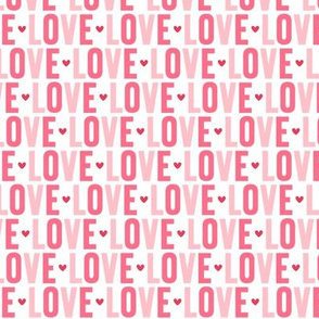 love pink + red UPPERcase