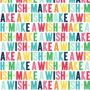 make a wish rainbow with navy UPPERcase