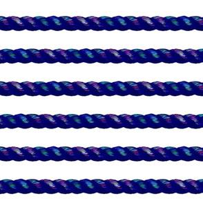 rainbow rope on white horizontal