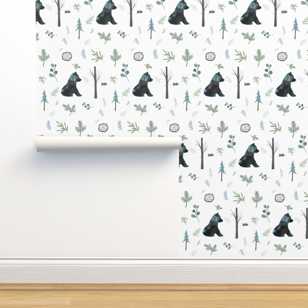 "Isobar Durable Wallpaper featuring 8"" Hello Winter Bear Silhouette by shopcabin"