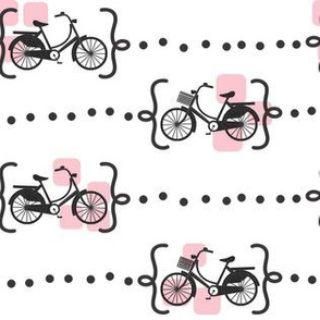 Ride a bike in pink