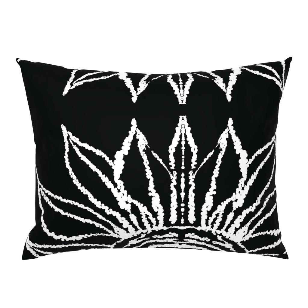 Campine Pillow Sham featuring basic_flower_black_large by blayney-paul