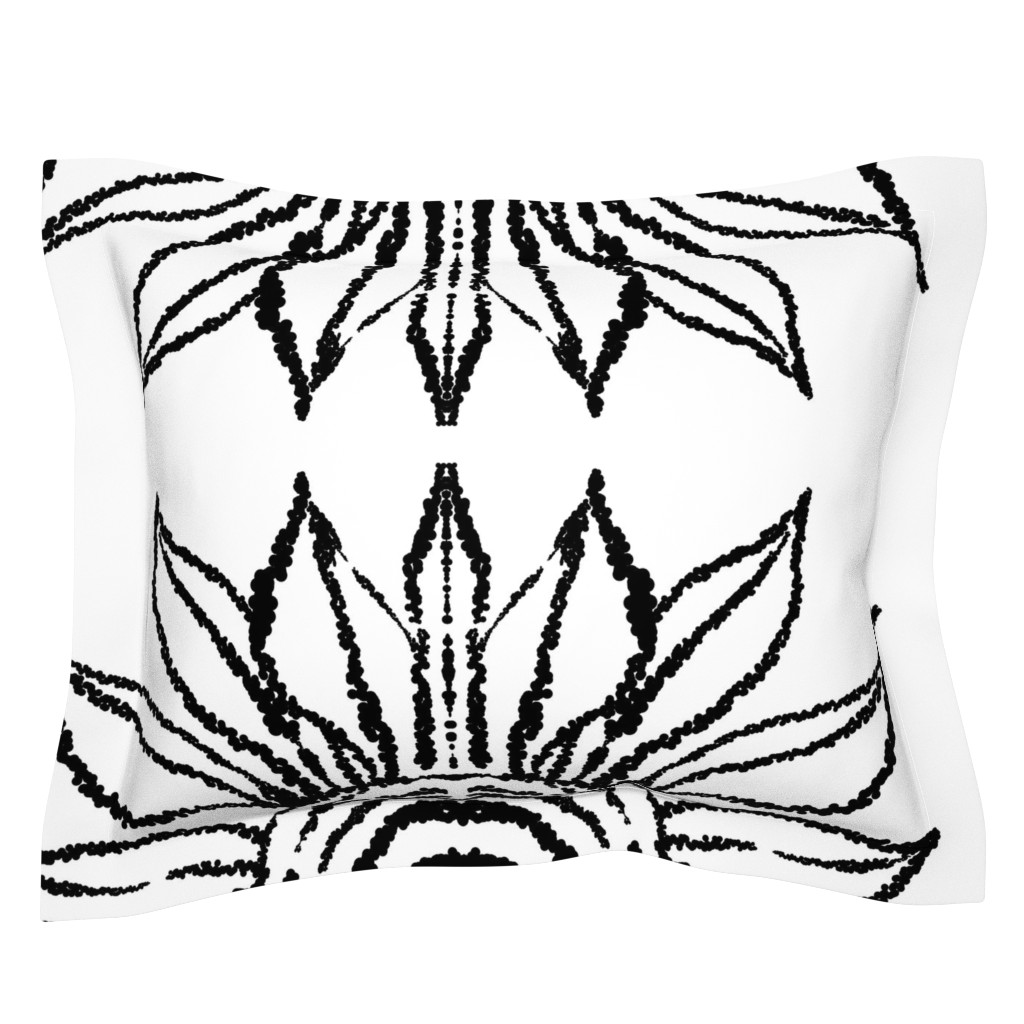 Sebright Pillow Sham featuring basic_flower_white_large by blayney-paul