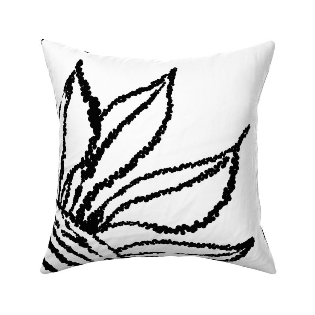 Catalan Throw Pillow featuring basic_flower_white_large by blayney-paul