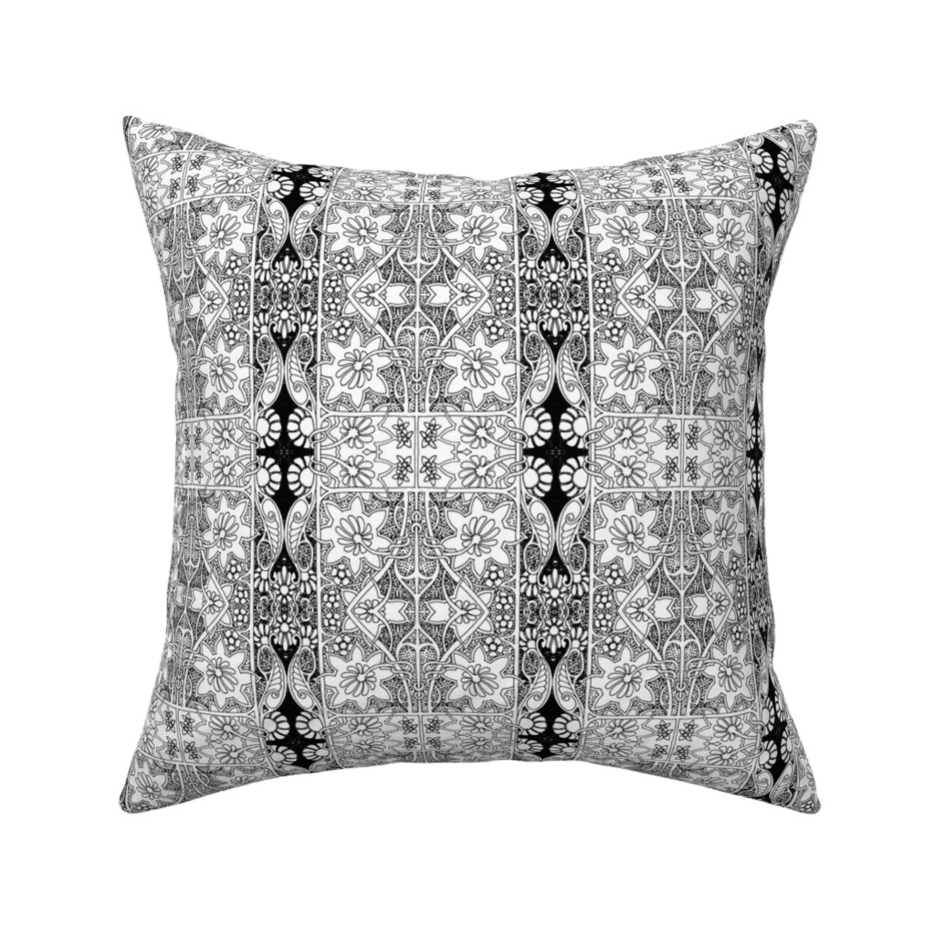 Catalan Throw Pillow featuring Color Me Spring by edsel2084