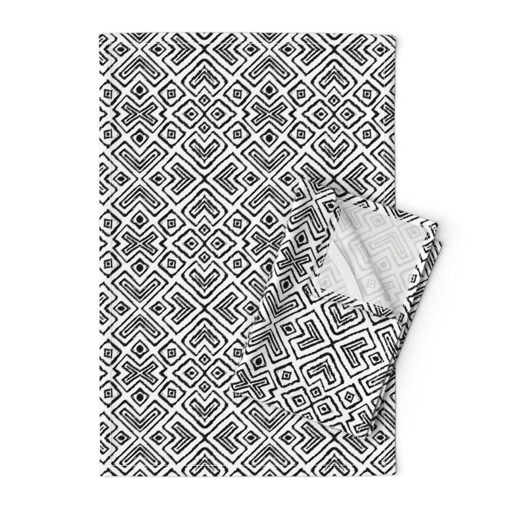 Orpington Tea Towels featuring diamond_diagonal_white_small by blayney-paul
