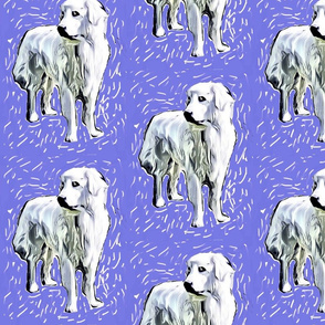 Great Pyrenees Woodcut Style