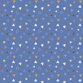 Multi Triangles - Indigo - Small Scale