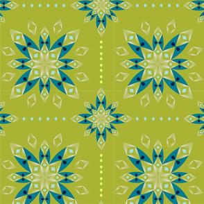 Flower Bandana - Leaf Green