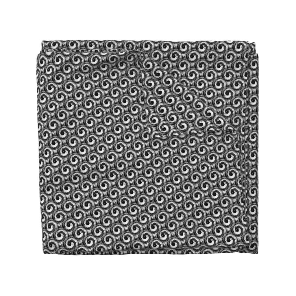Wyandotte Duvet Cover featuring black spirals on white by elizabethmay