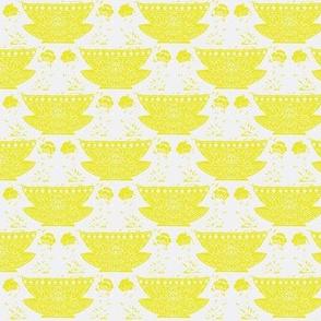 Bowl white-mustard