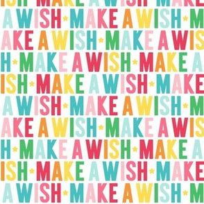 make a wish rainbow UPPERcase