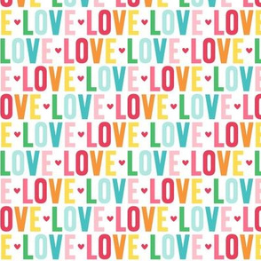 love rainbow UPPERcase