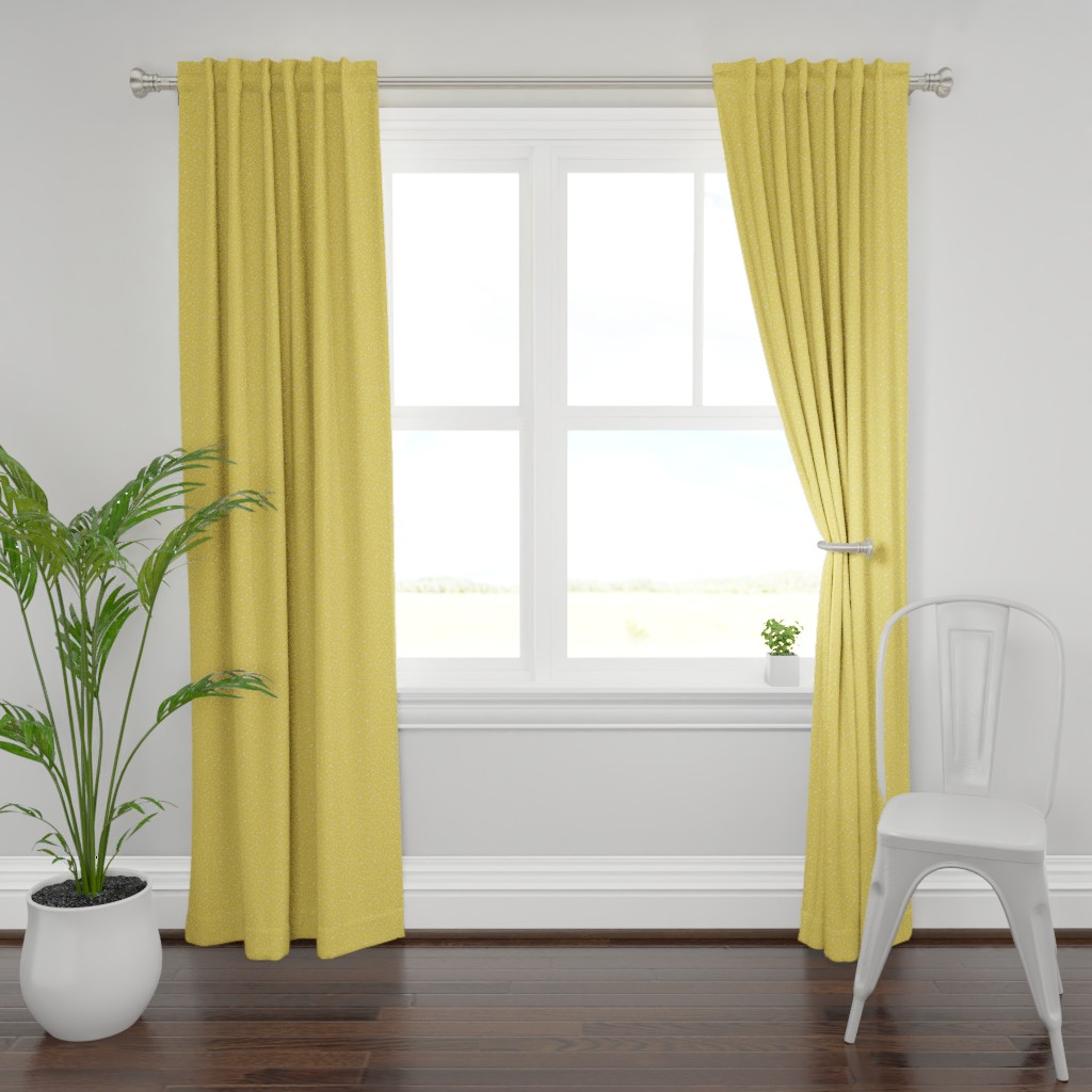 Plymouth Curtain Panel featuring arrows & hearts yellow reversed - arrow love by misstiina