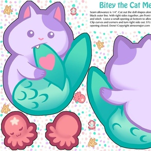 Bitey the Cat Mermaid Doll