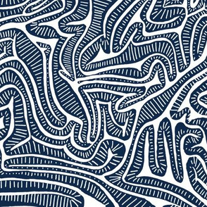 Blue Cabbage Labyrinth