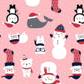 snow cuties pink :: cheeky christmas