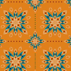 Flower Bandana - Orange