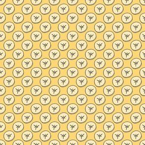 Banana Slice Pattern in Yellow