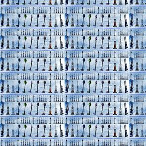 Vacuum Cleaner Stripe Blue
