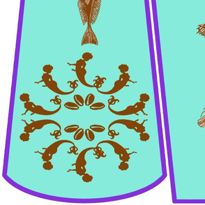 Bound 4 Glory cut-and-sew mermaid fabric panels