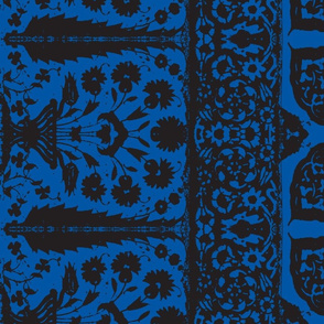 bosporus_tiles blue black silk crepe de chine