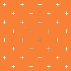 sun orange cross plus // pantone color of the month august