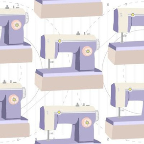 Retor Sewing Machine- Lavender