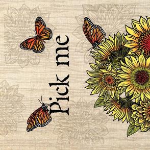 Sunflower_Basket_tea_towel