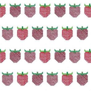 Cross Stitch Strawberries