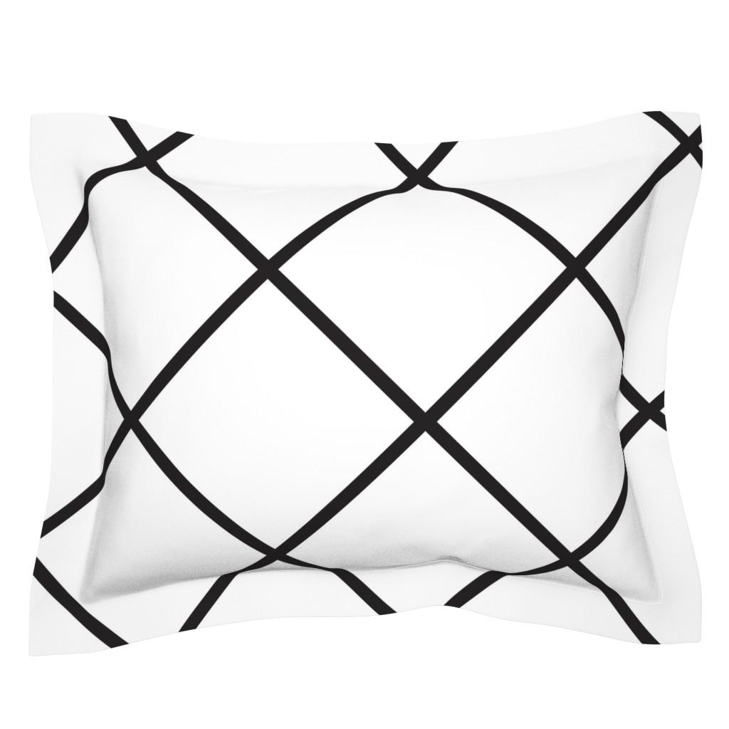 Sebright Pillow Sham featuring Major_diamond_white_large by blayney-paul