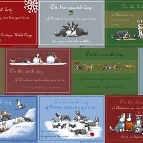 Corgi Christmas Gift wrap or fabric