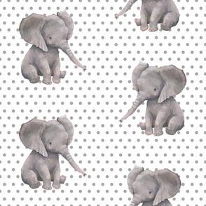 "8"" Elephant with Polka Dots"