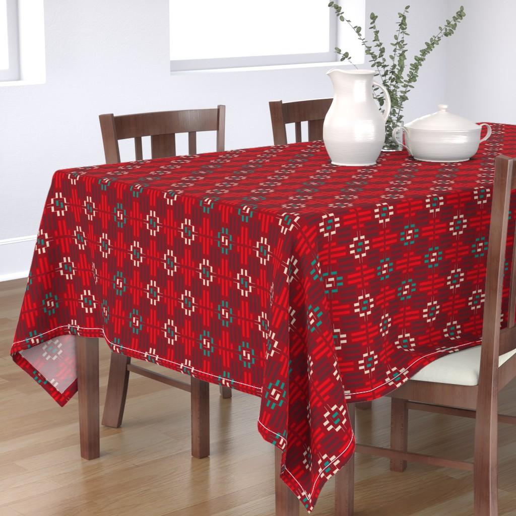 Bantam Rectangular Tablecloth featuring carpet by minyanna