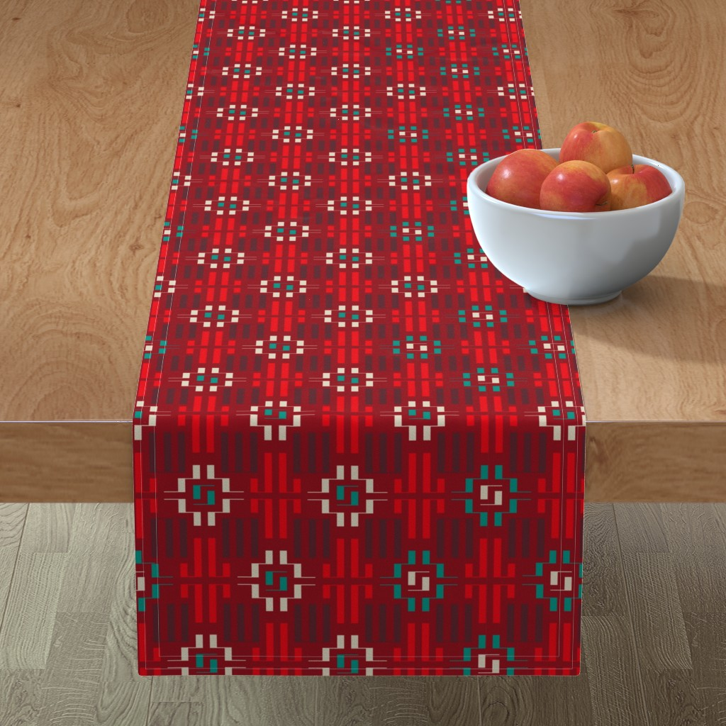 Minorca Table Runner featuring carpet by minyanna