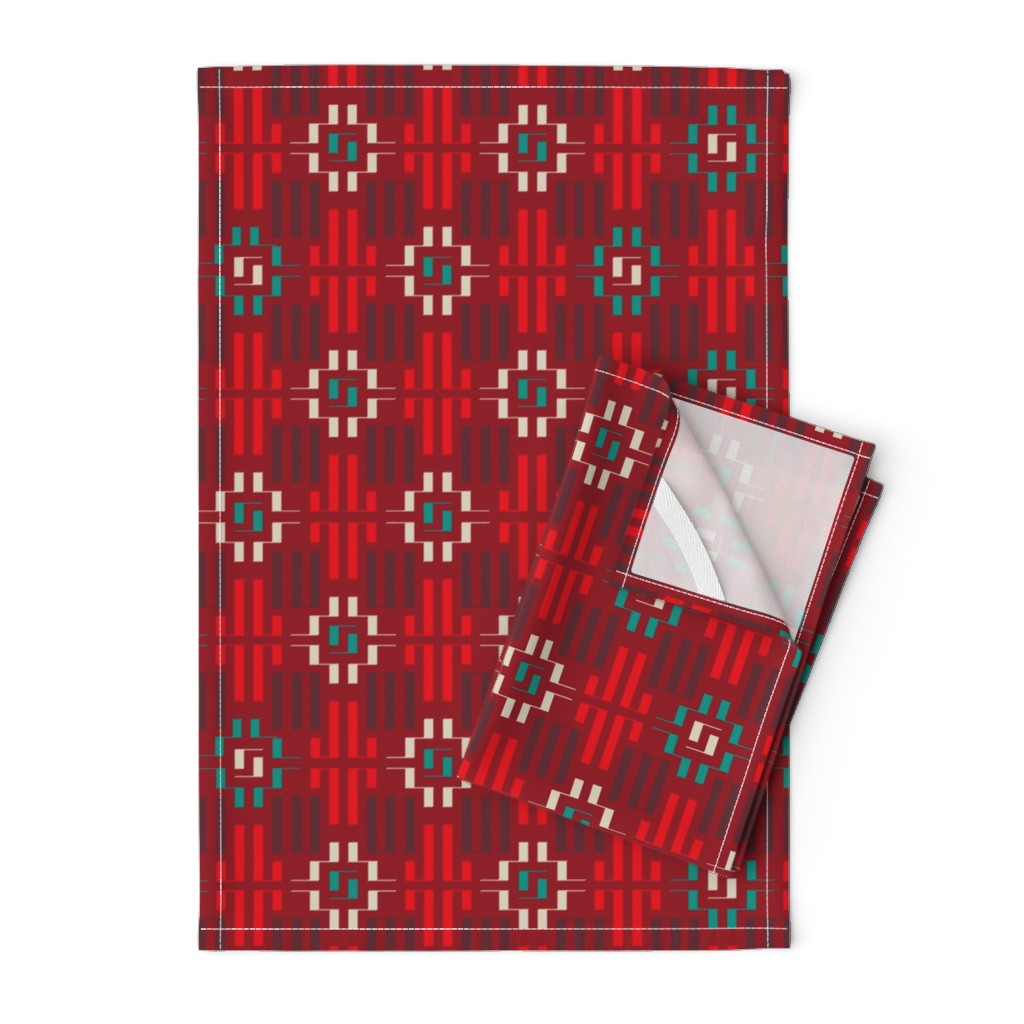 Orpington Tea Towels featuring carpet by minyanna