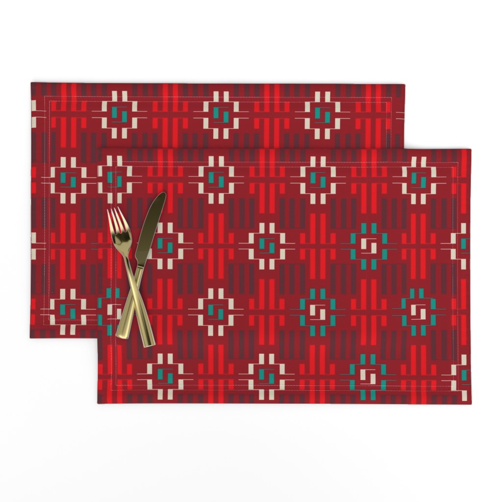 Lamona Cloth Placemats featuring carpet by minyanna