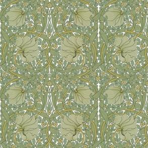 William Morris ~ Pimpernel ~ Original on White ~ Middle