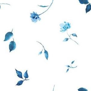 Tossed Porcelain Blue Florals