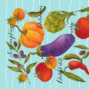 Delectable Farm to Table Tea Towel