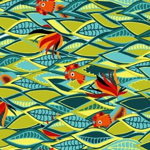 Farm Rooster Tea Towel