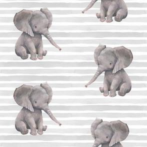 "8"" Elephant with Stripes"