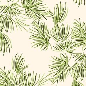 16-19B Pine Needles Off White